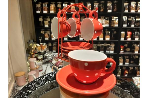 Koffieset stip Espresso