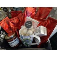 Geschenkmand thee in cadeauverpakking